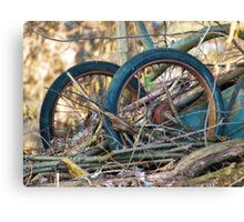 Old Discarded cart VRS2 Canvas Print