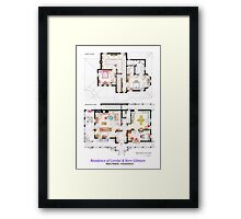 House of Lorelai & Rory Gilmore - Both Floorplans Framed Print