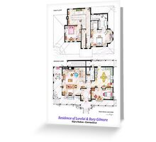 House of Lorelai & Rory Gilmore - Both Floorplans Greeting Card