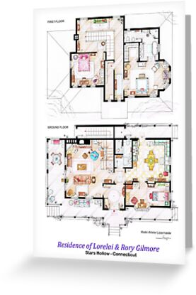 House of Lorelai & Rory Gilmore - Both Floorplans by Iñaki Aliste Lizarralde