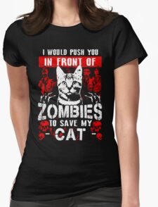 cat favourite zombie save pet animal T-Shirt