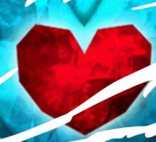 Heart piece tearing through shirt - Ocarina Sticker