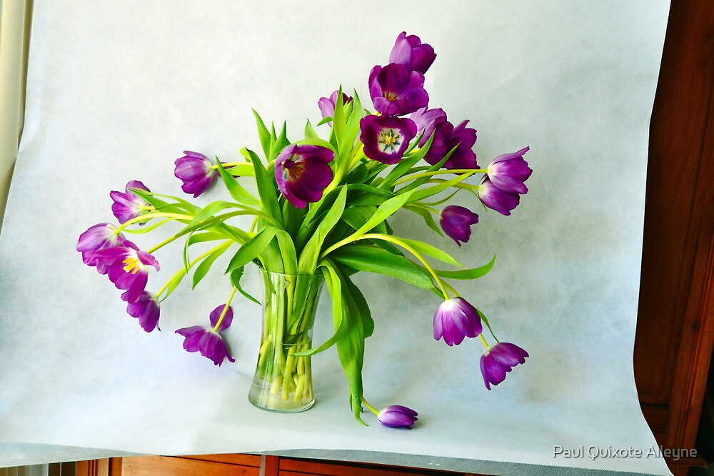 THE LEANING VASE OF FLOWERS by Paul Quixote Alleyne