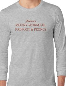 Messrs Moony, Wormtail, Padfoot and Prongs Long Sleeve T-Shirt