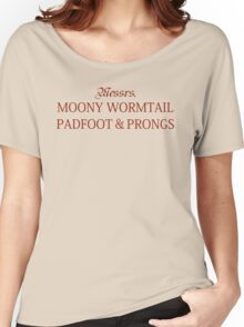 Messrs Moony, Wormtail, Padfoot and Prongs Women's Relaxed Fit T-Shirt