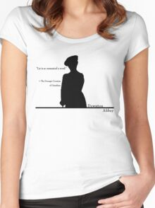 Lie is so unmusical a word Women's Fitted Scoop T-Shirt