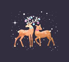 Festive Deer Women's Fitted Scoop T-Shirt