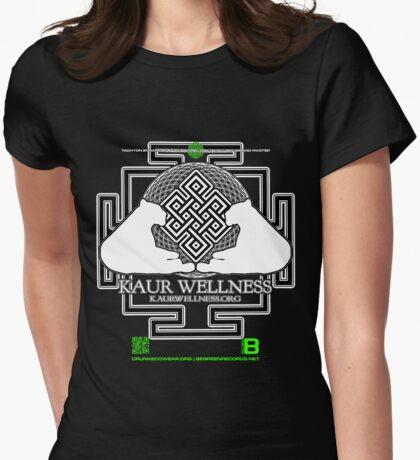 KAUR WELLNESS KAURWELLNESS.ORG OFFICIAL MERCH 22-2 QR Womens Fitted T-Shirt