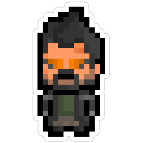 Pixel Adam Jensen (Deus Ex : Human Revolution) Sticker by PixelBlock