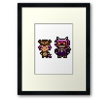 Pixel Reverse Annie (and Tibbers) Framed Print