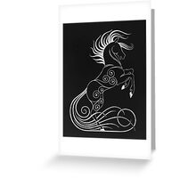 Rearing Horse Greeting Card
