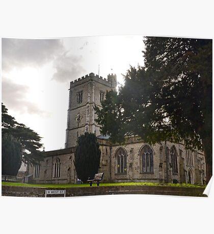 Axminster Church.Devon.UK Poster