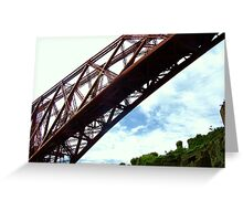 Forth Rail Bridge, from North Queensferry Battery Greeting Card