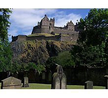Edinburgh Castle from St Cuthbert's Cemetery Photographic Print
