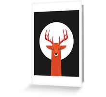 Deer and Moon Greeting Card