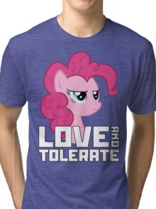 Pinkie Pie - Love And Tolerate Tri-blend T-Shirt