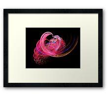 Fractal - Heart - Lets be friends Framed Print