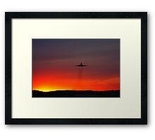 Sunset Takeoff Framed Print