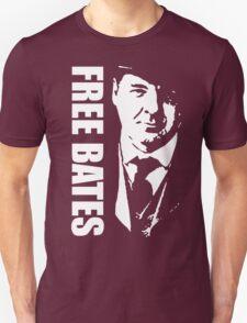 Free Bates White Stencil Design T-Shirt