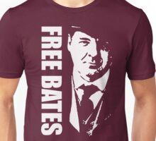 Free Bates White Stencil Design Unisex T-Shirt