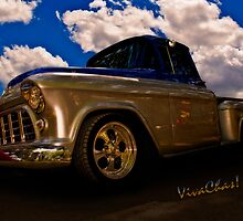56 Chevy Pickup B4 Sundown by ChasSinklier