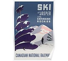 Poster advertising the Canadian Ski Resort Jasper (colour litho), Canadian School (20th Century) Poster