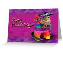 Cinco de Mayo Squirrel Greeting Card