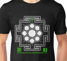 GLITCH.FM OFFICIAL ORGANIC BENEFIT MERCH LOTUS MANDALA 11 QR Unisex T-Shirt