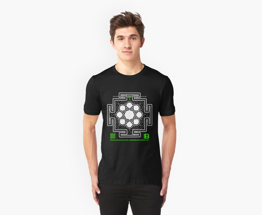 GLITCH.FM OFFICIAL ORGANIC BENEFIT MERCH LOTUS MANDALA 11 QR by David Avatara