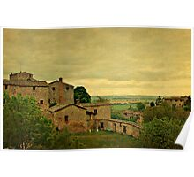 Early Morning Light in Tuscany Poster