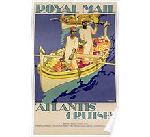 Poster advertising Royal Mail, 'Atlantis' Cruises Poster