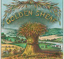 Golden Sheaf cigar label by Bridgeman Art Library