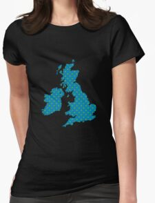 British Isles Wallpaper Womens Fitted T-Shirt