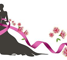 Pink Ribbon with Pohutukawa by iskamontero