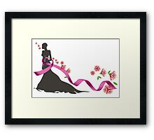 Pink Ribbon with Pohutukawa Framed Print