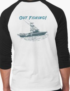 Out Fishing Men's Baseball ¾ T-Shirt