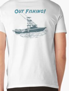 Out Fishing Mens V-Neck T-Shirt