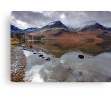 High Crag and High Stile, Buttermere Lake District Canvas Print