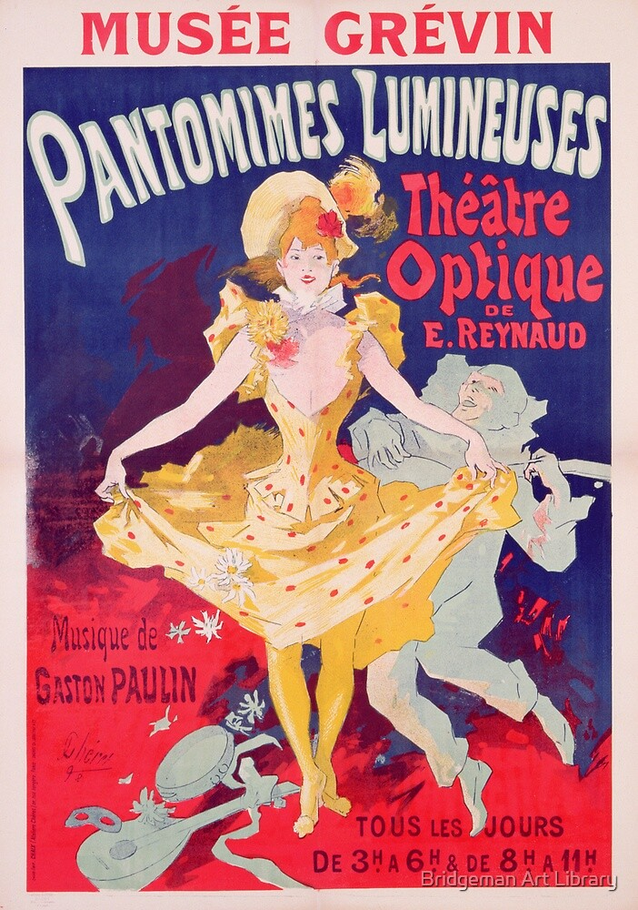 Poster advertising 'Pantomimes Lumineuses, Theatre Optique de E. Reynaud' at the Musee Grevin by Bridgeman Art Library