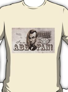 President Abe Lincoln Fan Caricature T-Shirt