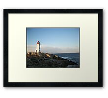 Peggys Cove at Dawn Nova Scotia Canada by Shawna Mac Framed Print