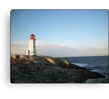 Peggys Cove at Dawn Nova Scotia Canada by Shawna Mac Canvas Print