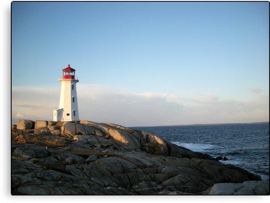 Peggys Cove at Dawn Nova Scotia Canada by Shawna Mac by Shawna Mac