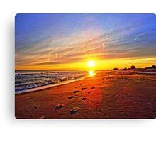 Super Bowl Sunset 2013, Fire Island Canvas Print