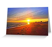 Super Bowl Sunset 2013, Fire Island Greeting Card