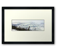 Snow in the Valley Framed Print