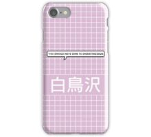 You Should Have Gone to Shiratorizawa-Purple iPhone Case/Skin