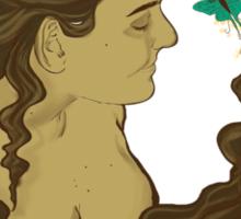 La Dame aux papillons Sticker