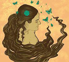 La Dame aux papillons by Nana Leonti