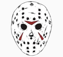White Jason Hockey Mask by OcTag3n